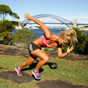 during the adidas PUREBOOSTX Launch at Goat Island on February 2, 2016 in Sydney, Australia.